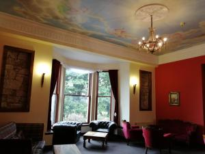 A seating area at Broomhall Castle
