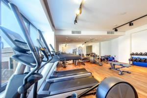 The fitness center and/or fitness facilities at Stella Island Luxury Resort & Spa (Adults Only)
