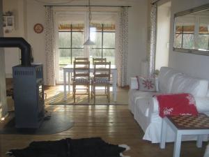 Ein Sitzbereich in der Unterkunft Campen Cottage