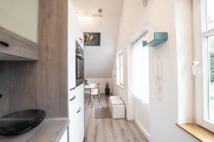 Een keuken of kitchenette bij Haus Sybille