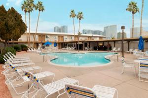 The swimming pool at or near Days Inn by Wyndham Las Vegas Wild Wild West Gambling Hall