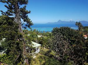 Uma vista do mar tirada da casa de temporada