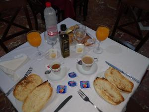 Opciones de desayuno disponibles en Hotel Santa Ana