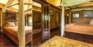 Cama ou camas em um quarto em Rohotu Fare