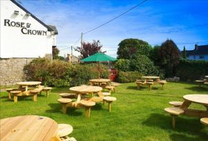 A garden outside Rose And Crown