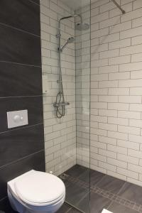 A bathroom at Milk Factory