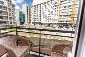 Ein Balkon oder eine Terrasse in der Unterkunft Malecot Boutique Hotel