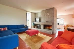 A seating area at Magoito's Villa