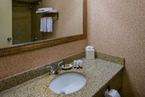 A bathroom at Red Lion Hotel Port Angeles Harbor