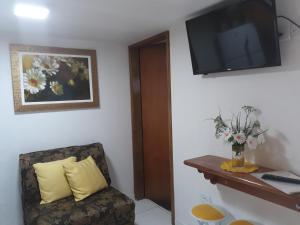 Uma TV ou centro de entretenimento em Vila Aquario da Sonia