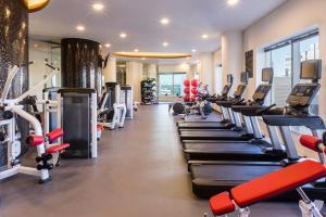 Das Fitnesscenter und/oder die Fitnesseinrichtungen in der Unterkunft Swissotel Tallinn