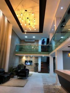 The lobby or reception area at Roma Hotel