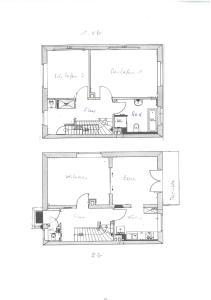 The floor plan of Villa LE