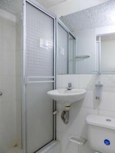 A bathroom at Hostal Donde Lili