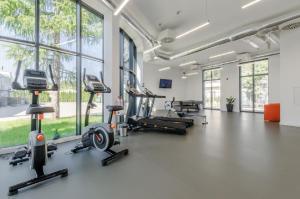Centrum fitness w obiekcie Hotel IKAR