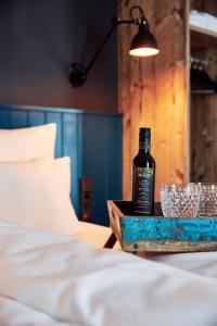 Ein Bett oder Betten in einem Zimmer der Unterkunft me and all hotel mainz