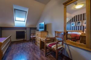 Televízia a/alebo spoločenská miestnosť v ubytovaní Chateau Krakovany
