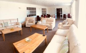 A seating area at Luccombe Manor Country House Hotel