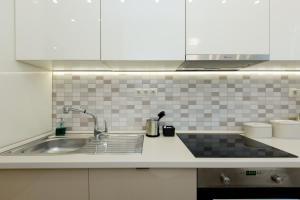 Kuchyň nebo kuchyňský kout v ubytování CityPark Villa Flat