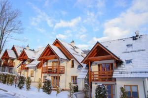 Obiekt Domek Karpatka 1 przy wyciągu narciarskim zimą