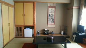A kitchen or kitchenette at Hakodate Park Hotel