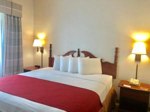 A bed or beds in a room at Country Inn & Suites by Radisson Near Universal