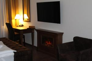 A seating area at Parkhotel Brno