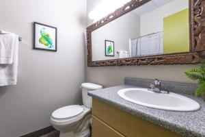 A bathroom at MacEwan University Residence