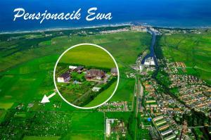 Widok z lotu ptaka na obiekt Pensjonacik Ewa