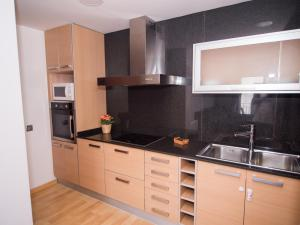 A kitchen or kitchenette at LucasLand Apartments Sitges
