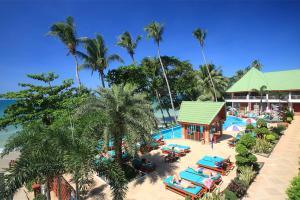 Ein Blick auf den Pool von der Unterkunft Cookies Hotel oder aus der Nähe