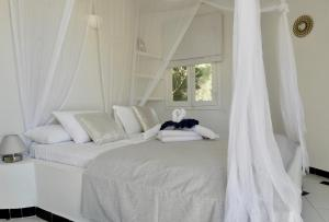 Cama o camas de una habitación en Hacienda Encanto del Rio