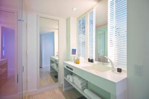 A bathroom at SLS at Baha Mar