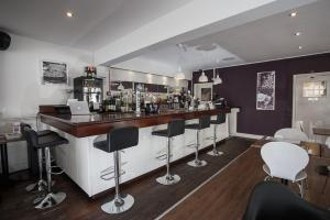 The lounge or bar area at The Crown Rooms Newmarket