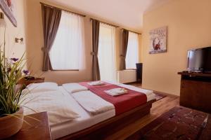 Ein Bett oder Betten in einem Zimmer der Unterkunft Hotel Banderium