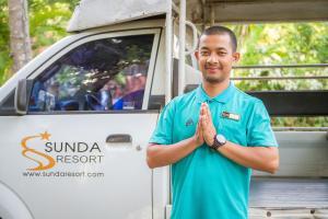 Members of staff at Sunda Resort