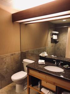 A bathroom at Heathman Lodge