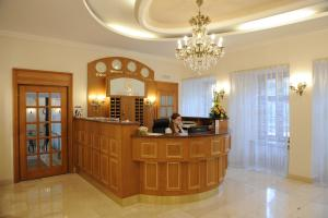 The lobby or reception area at Hotel Prince de Ligne