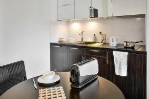 Cuisine ou kitchenette dans l'établissement Adagio Grenoble Centre