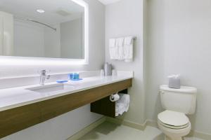 A bathroom at Holiday Inn Express Mount Arlington, an IHG Hotel