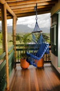 A balcony or terrace at Hacienda Bambusa