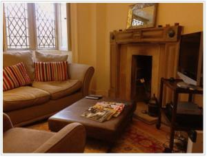 A seating area at Thorpe Hall