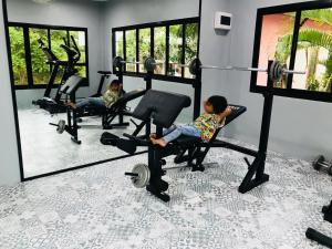 The fitness center and/or fitness facilities at Pinky Bungalow Resort - SHA Plus