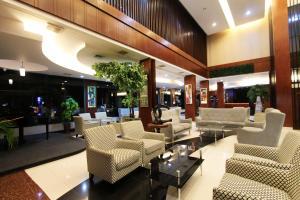 The lobby or reception area at Grand Hatika Hotel