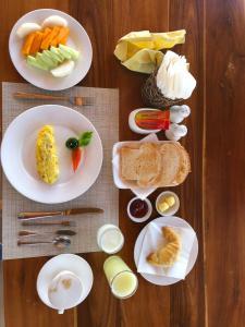 Opciones de desayuno disponibles en Inle Cottage Boutique Hotel