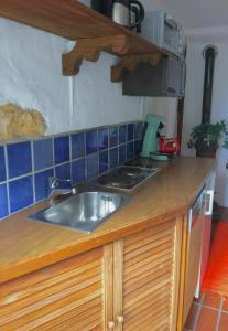 Küche/Küchenzeile in der Unterkunft Burgweg Ferienwohnung