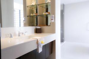 A bathroom at Aetas Bangkok