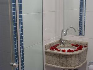 A bathroom at Hotel Capelista