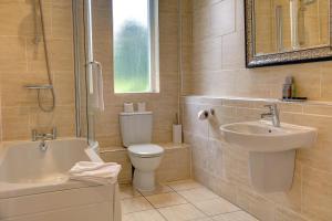 A bathroom at Best Western Walworth Castle Hotel