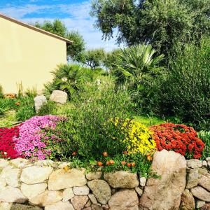 A garden outside Agriturismo Rocce Bianche